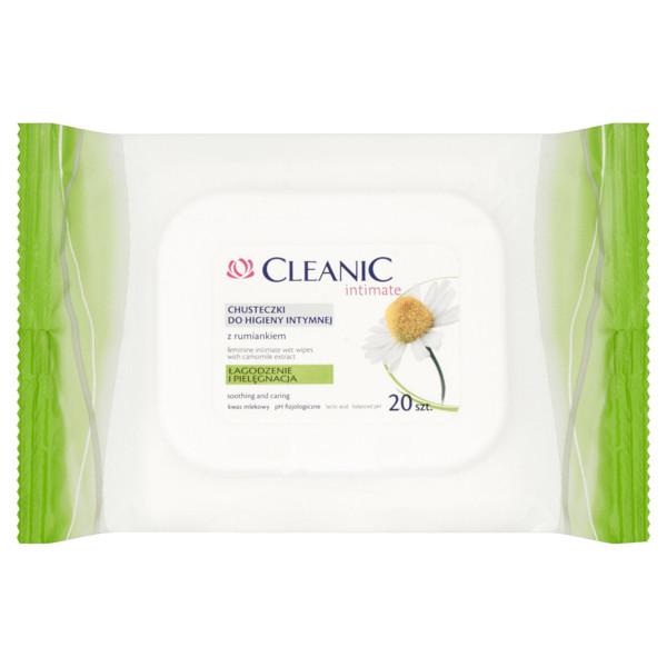 CLEANIC INTIMATE, raminamosios ir puoselėjamosios intymios higienos servetėlės su ramunėlėmis, 20 vnt. paveikslėlis