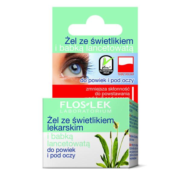 FLOSLEK LABORATORIUM, akių srities gelis su akišveitėmis ir siauralapiais gysločiais, 10 g paveikslėlis
