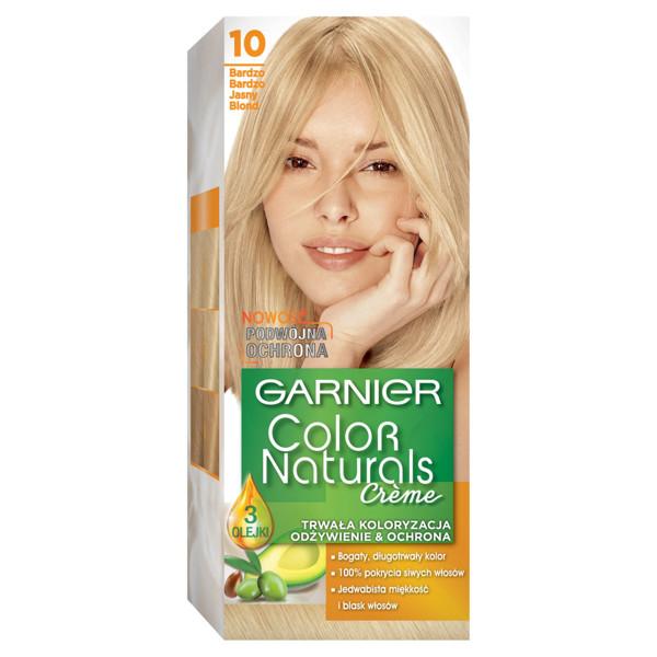 GARNIER COLOR NATURALS CRÈME, plaukų dažai, 10 ypač skaisčiai šviesi paveikslėlis
