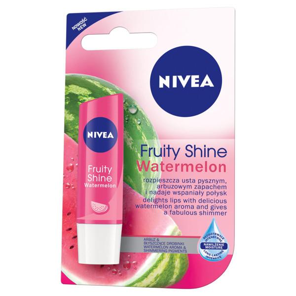 NIVEA LIP CARE FRUITY SHINE WATERMELON, apsauginis lūpų balzamas, 4,8 g paveikslėlis
