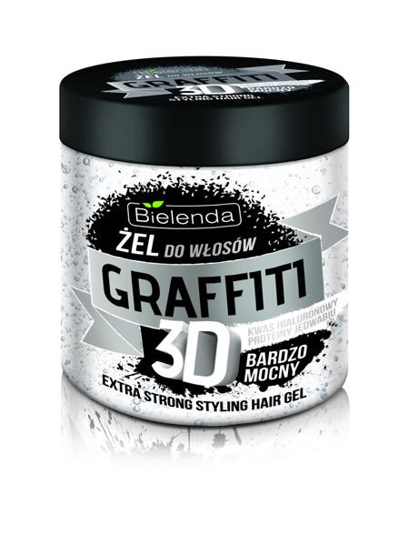 BIELENDA GRAFFITI 3D, labai stiprios fiksacijos balta plaukų želė, 250 ml paveikslėlis