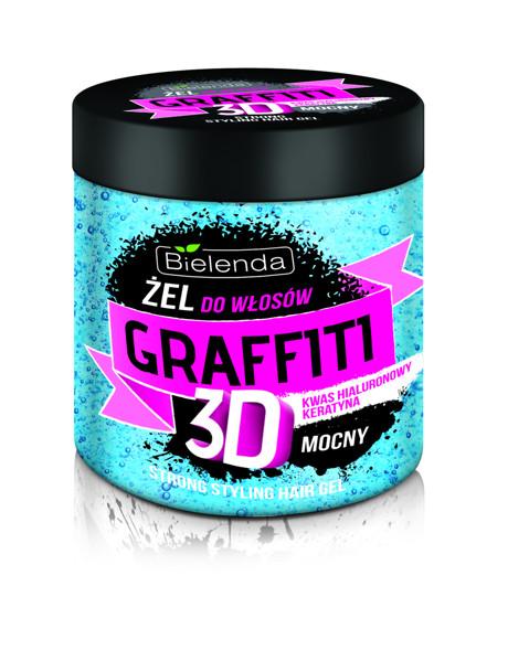 BIELENDA GRAFFITI 3D, stiprios fiksacijos mėlyna plaukų želė, 250 ml paveikslėlis