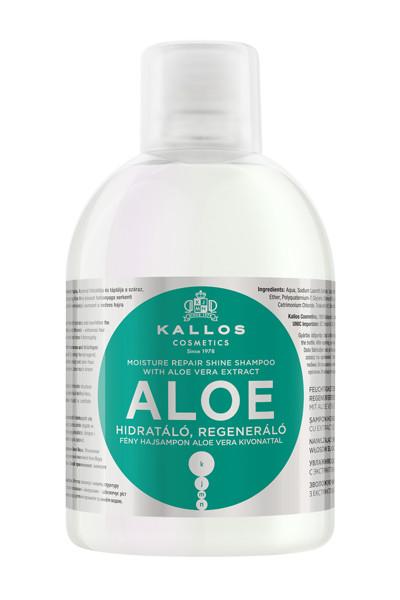 KALLOS KJMN ALOE, drėkinamasis ir regeneruojamasis šampūnas su alavijais, 1000 ml paveikslėlis