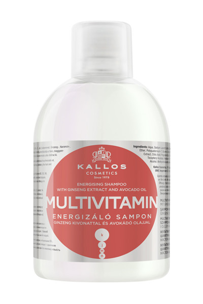 KALLOS KJMN MULTIVITAMIN, šampūnas, 1000 ml paveikslėlis