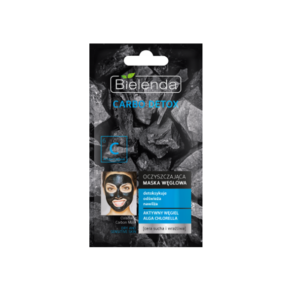 BIELENDA CARBO DETOX, valomoji kaukė su anglimi sausai ir jautriai odai paveikslėlis