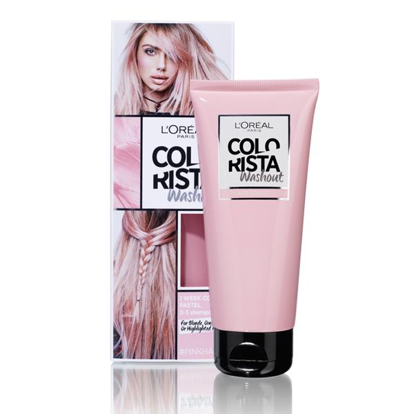 L'ORÉAL PARIS COLORISTA WASHOUT, nuplaunami plaukų dažai, 2 Pastel Pink Hair paveikslėlis
