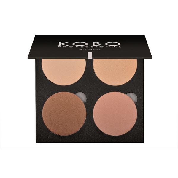 KOBO PROFESSIONAL, 4 spalvų pudrų paletė veidui, 1 Golden Sand Highlighter paveikslėlis