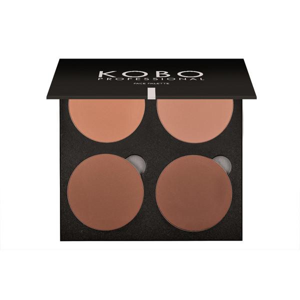 KOBO PROFESSIONAL, 4 spalvų mineralinių pudrų paletė veidui, 09 Natural Glow paveikslėlis