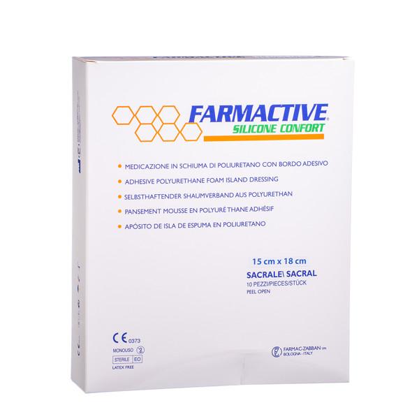 FARMACTIVE SILICONE CONFORT SACRAL, lipnus tvarstis, 15 cm x 18 cm, 10 vnt. paveikslėlis