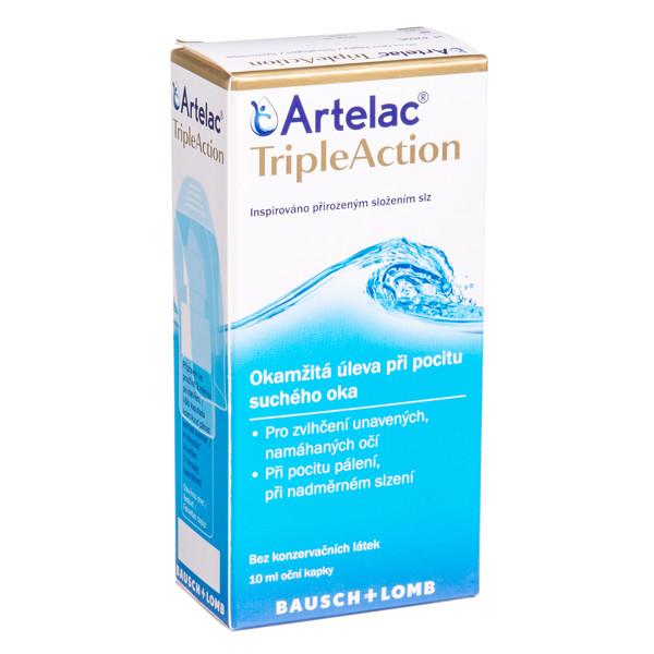 ARTELAC TRIPLEACTION, akių lašai, 10 ml paveikslėlis