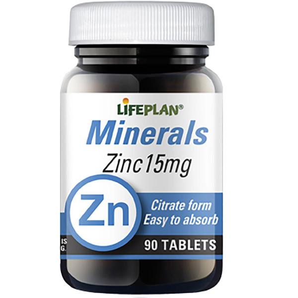 LIFEPLAN CINKAS, 15 mg, cinko citratas, 90 tablečių paveikslėlis