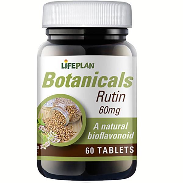 LIFEPLAN RUTIN, 60 mg, grynas rutinas, 60 tablečių paveikslėlis