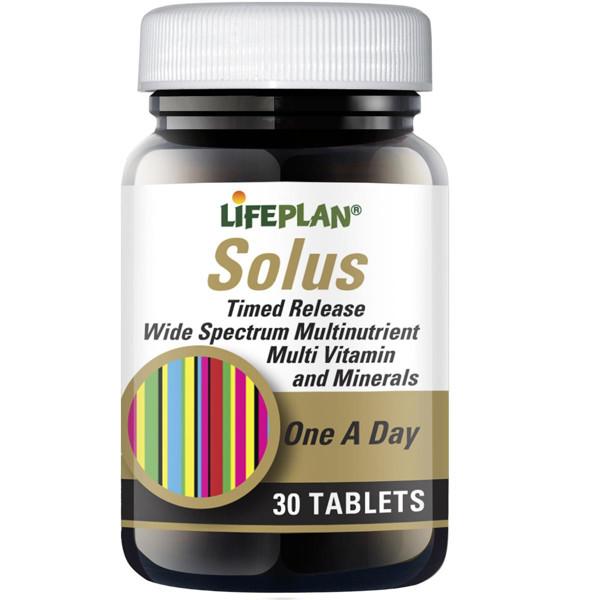 LIFEPLAN SOLUS, multivitaminų kompleksas, 30 tablečių paveikslėlis