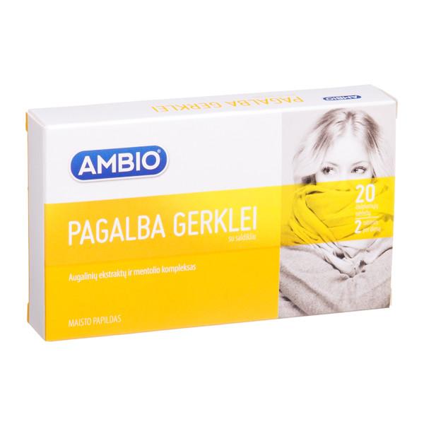 AMBIO PAGALBA GERKLEI, 20 čiulpiamųjų tablečių paveikslėlis