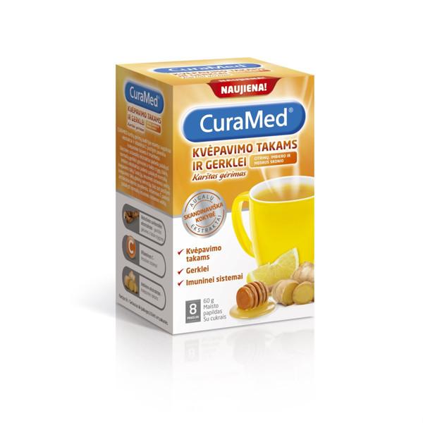 CURAMED, citrinų, imbiero ir medaus skonio karštas gėrimas, 8 vnt. paveikslėlis