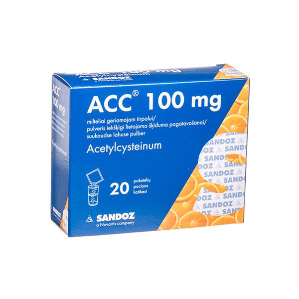 ACC, 100 mg, milteliai geriamajam tirpalui, N20  paveikslėlis