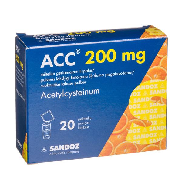 ACC, 200 mg, milteliai geriamajam tirpalui, N20  paveikslėlis