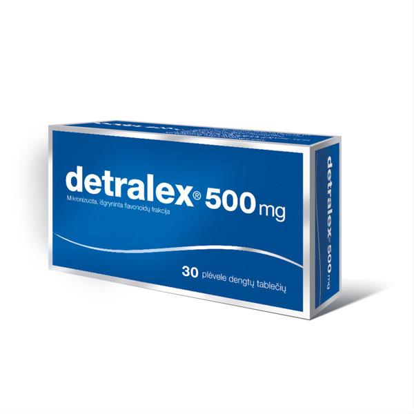 DETRALEX, 500 mg, plėvele dengtos tabletės, N30  paveikslėlis