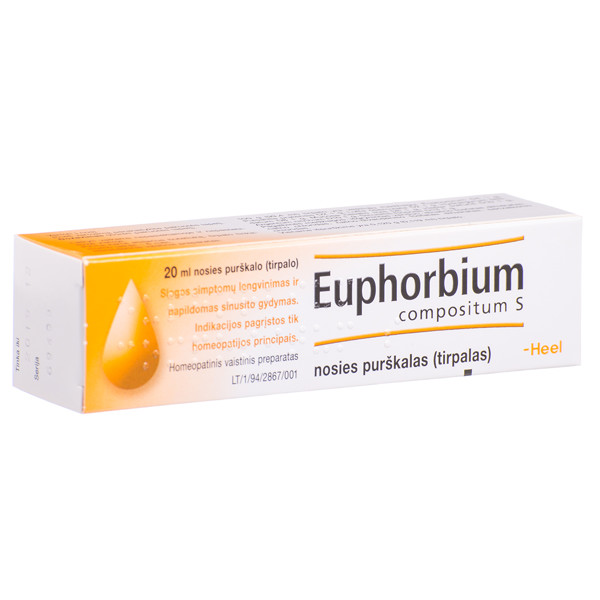 EUPHORBIUM COMPOSITUM S, nosies purškalas (tirpalas), 20 ml paveikslėlis