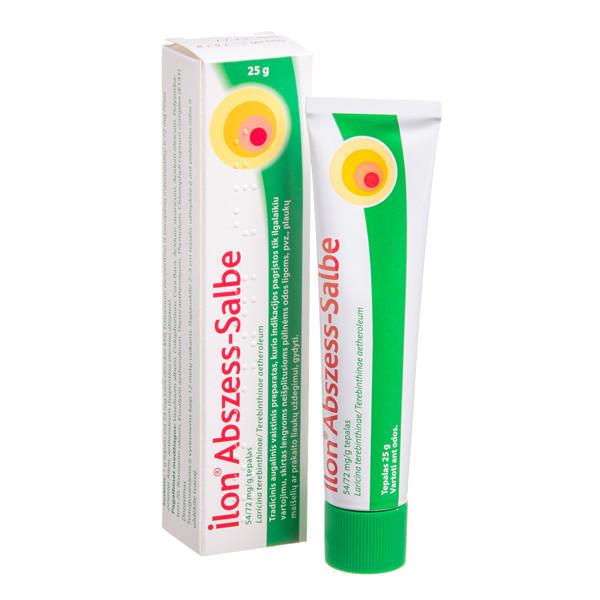 ILON ABSZESS - SALBE, 54/72 mg/g, tepalas, 25 g  paveikslėlis