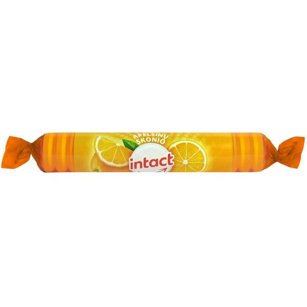 INTACT TRAUBENZUCKER, apelsinų skonio tabletės, 40 g paveikslėlis