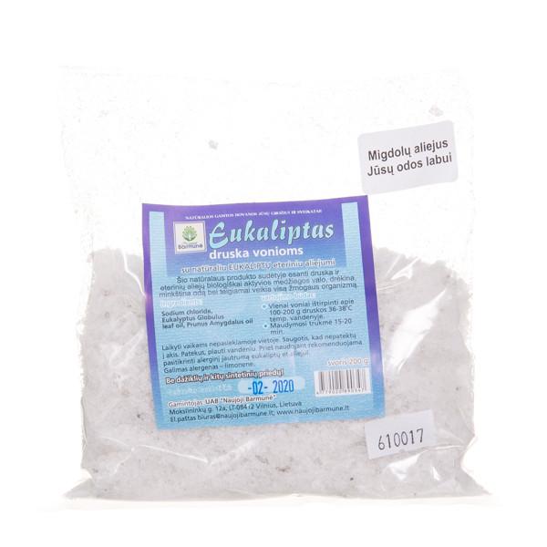 NAUJOJI BARMUNĖ druska EUKALIPTAS, vonioms, su natūraliu eukaliptų eteriniu aliejumi, 200 g  paveikslėlis