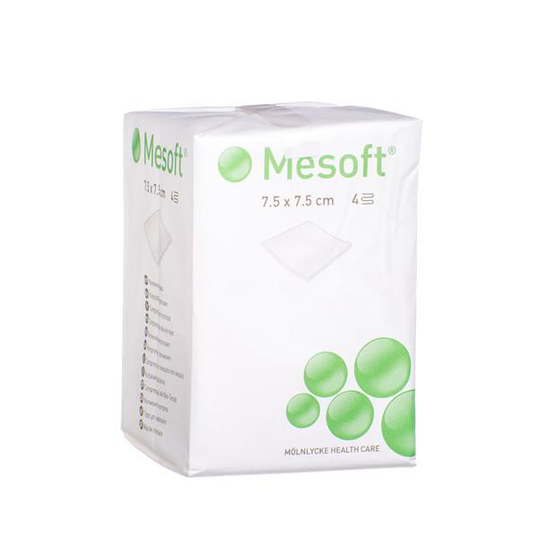 MESOFT, 7,5 cm x 7,5 cm, nesterilios neaustinės servetėlės, 100 vnt.   paveikslėlis