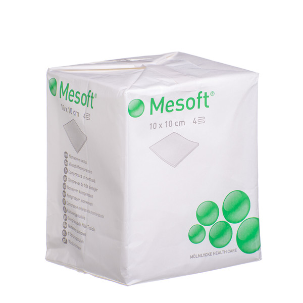 MESOFT, servetėlės, 10 cm x 10 cm, neaustinės, nesterilios, 100 vnt.   paveikslėlis