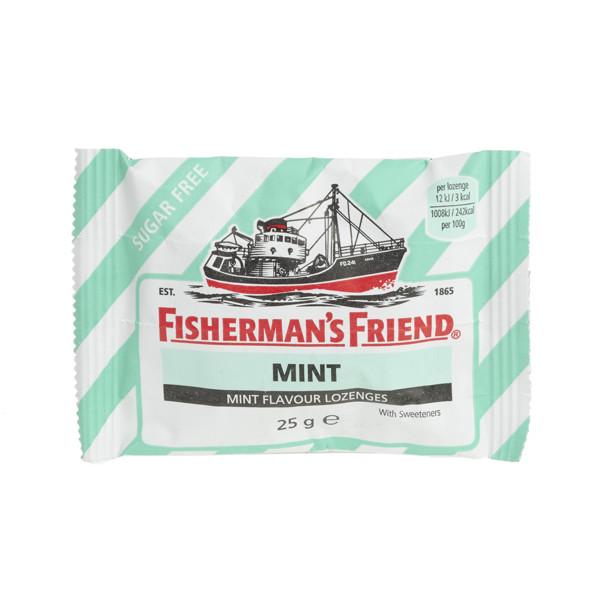 FISHERMAN'S FRIEND, becukrės mėtų skonio pastilės, 25 g paveikslėlis