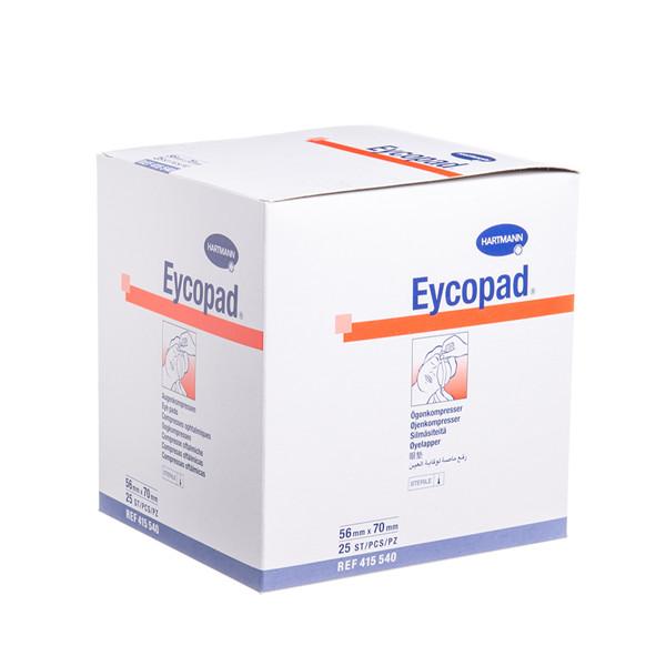 HARTMANN EYCOPAD, tvarstis akims, sterilus, 56 mm x 70 mm, 25 vnt.   paveikslėlis