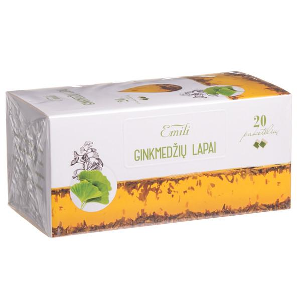 EMILI GINKMEDŽIŲ LAPAI, žolelių arbata, 1,5 g, 20 vnt. paveikslėlis