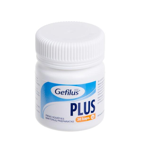 GEFILUS PLUS, 20 kapsulių paveikslėlis