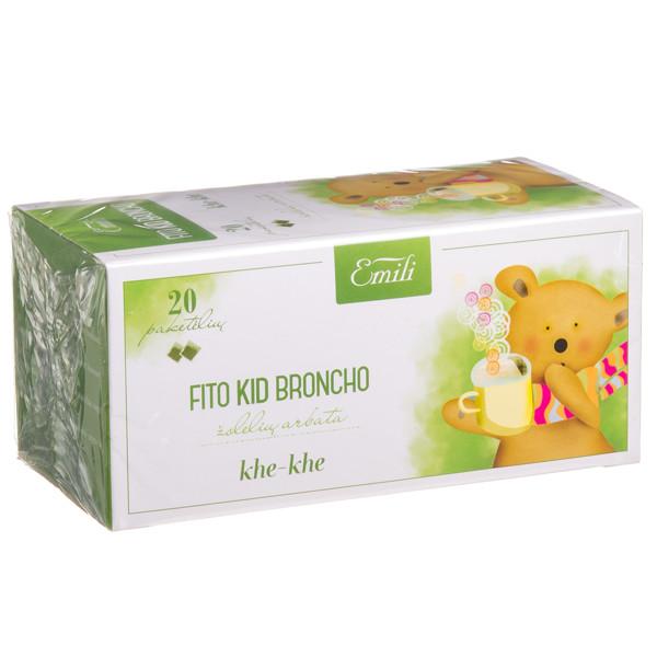 EMILI FITO KID BRONCHO, žolelių arbata, 1,5 g, 20 vnt. paveikslėlis