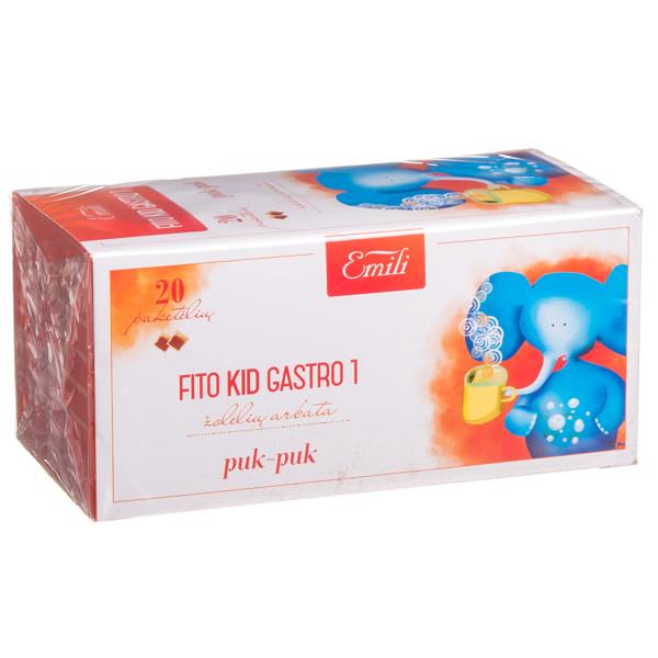 EMILI FITO KID GASTRO 1, žolelių arbata, 1,5 g, 20 vnt. paveikslėlis