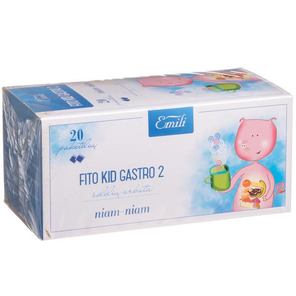 EMILI FITO KID GASTRO 2, žolelių arbata, 1,5 g, 20 vnt. paveikslėlis