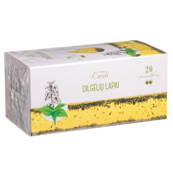 EMILI DILGĖLIŲ LAPAI, žolelių arbata, 1,5 g, 20 vnt. paveikslėlis