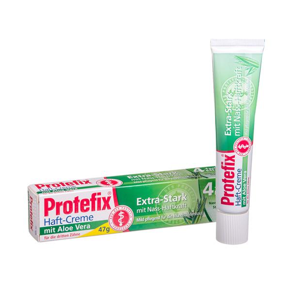 PROTEFIX HAFT-CREME ALOE VERA, fiksuojamasis kremas dantų protezams, 47 g paveikslėlis