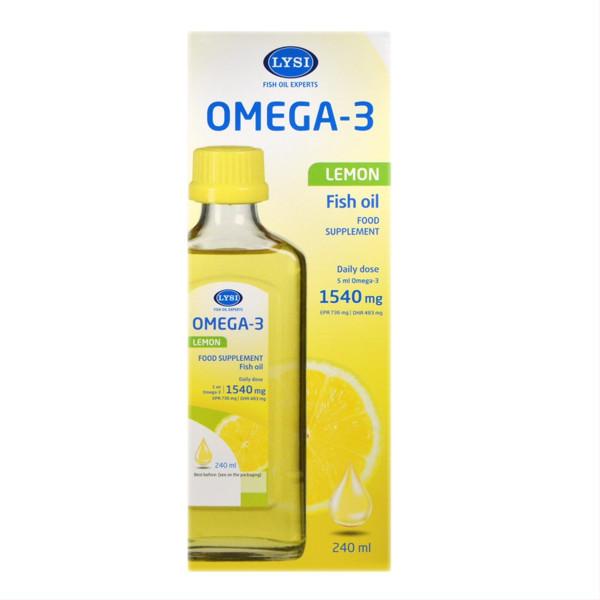 LYSI OMEGA-3, žuvų taukai, citrinų skonio, 240 ml paveikslėlis
