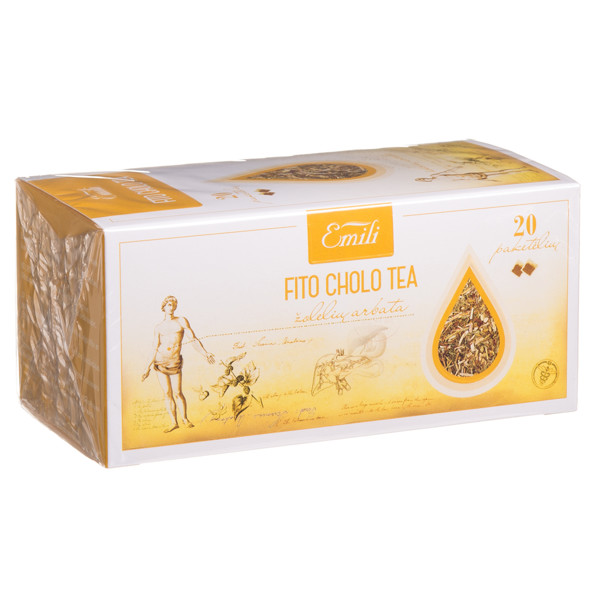 EMILI FITO CHOLO TEA, žolelių arbata, 1,5 g, 20 vnt.  paveikslėlis