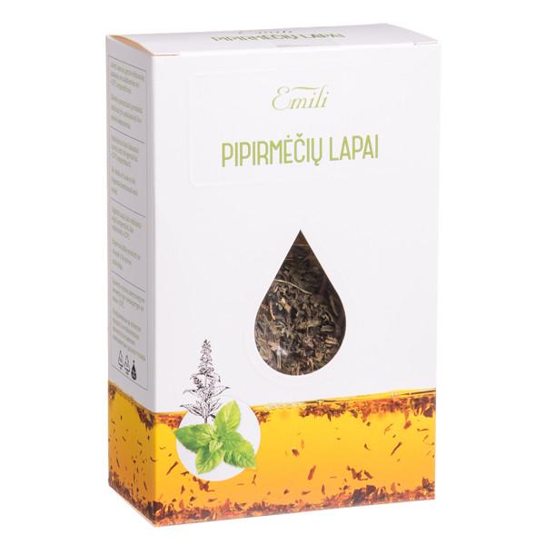 EMILI PIPIRMĖČIŲ LAPAI, žolelių arbata, 40 g paveikslėlis