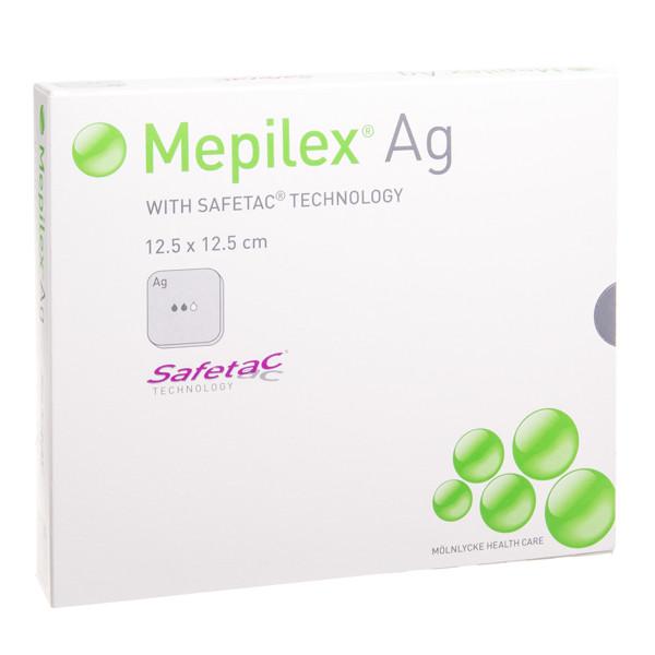 MEPILEX AG, tvarstis, 12,5 cm x 12,5 cm, silikoninis, 5 vnt. paveikslėlis