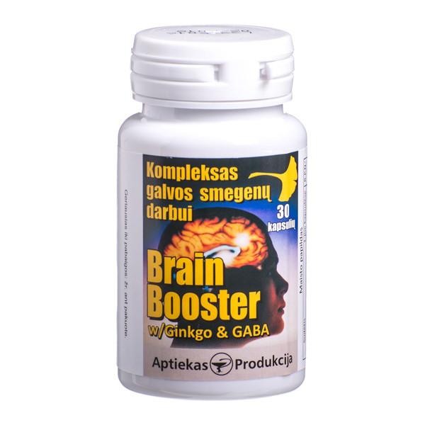 BRAIN BOOSTER, kompleksas galvos smegenų darbui, 30 kapsulių paveikslėlis