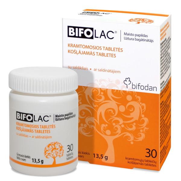 BIFODAN BIFOLAC, 30 kramtomųjų tablečių paveikslėlis