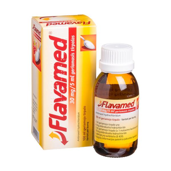 FLAVAMED, 30 mg/5 ml, geriamasis tirpalas, 100 ml  paveikslėlis