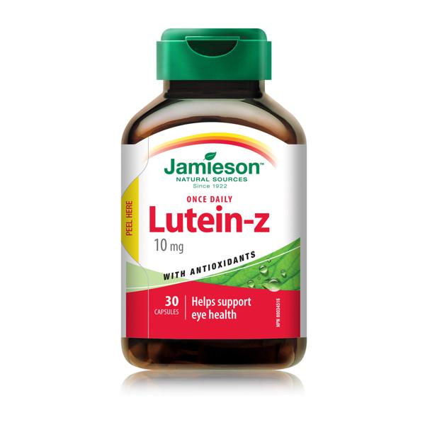 JAMIESON LUTEIN-Z, 10 mg, 30 kapsulių paveikslėlis
