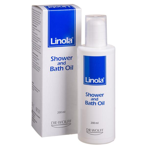 LINOLA SHOWER AND BATH OIL, vonios aliejus, 200 ml paveikslėlis
