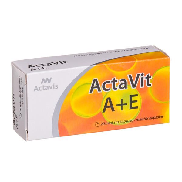 ACTAVIS ACTAVIT A+E, 20 minkštųjų kapsulių paveikslėlis