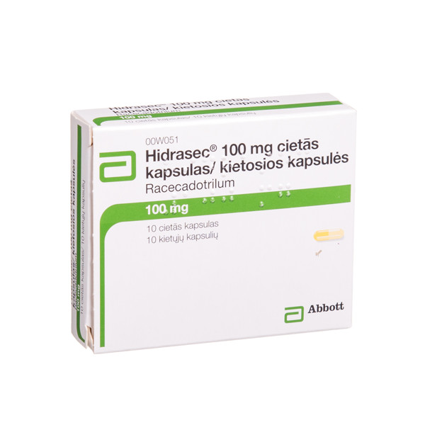 HIDRASEC, 100 mg, kietosios kaspulės, N10 paveikslėlis