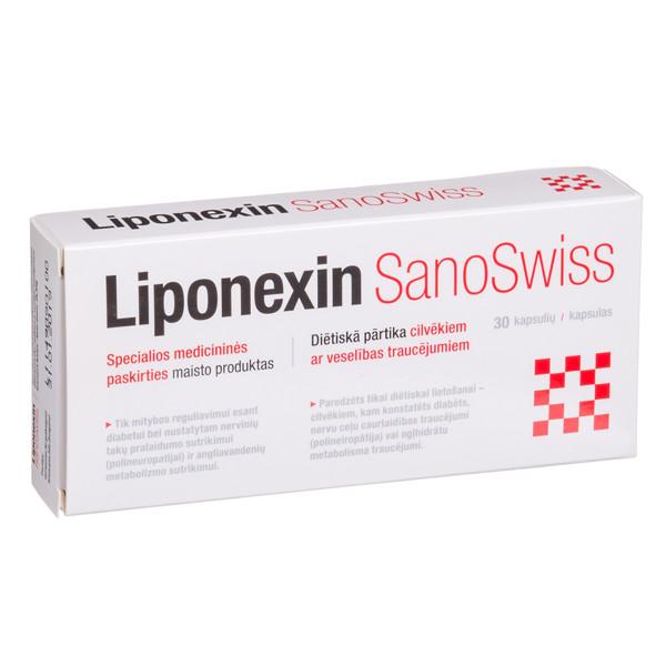 SANOSWISS LIPONEXIN, 30 kapsulių paveikslėlis