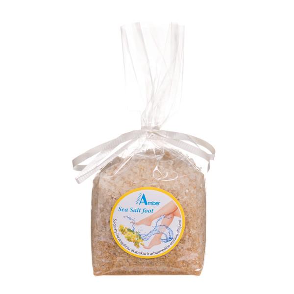 AQUA AMBER, jūros druska kojoms su garstyčių ekstraktu ir arbatmedžio eteriniu aliejumi, 300 g paveikslėlis